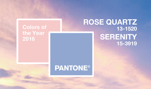 Pantone Colors of the Year - Rose Quartz and Serenity